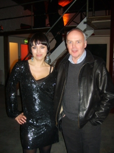D-light owner and photographer Agata Stoinska with Eddie Shanahan